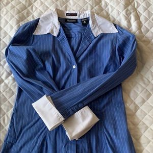 NY&CO French cuff blouse Size S